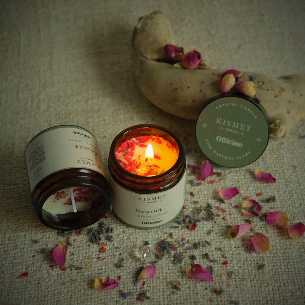 KismetBerlin x Officine Nowruz crystal candle