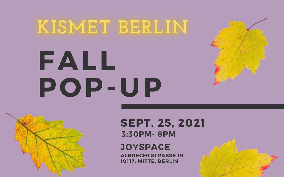 FALL POP-UP at Joyspace – 25 September 2021